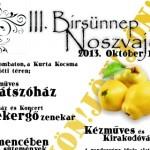III. Noszvaj Birsünnep, Birs fesztivál 2013 október 19