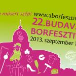 22. Budavári Borfesztivál 2013 szeptember 11-15