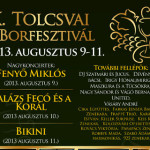 X. Tolcsvai Borfesztivál 2013. augusztus 9-11.